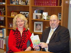 Cynthia Mueller, Author . . . Plano, Illinois Mayor William Roberts .